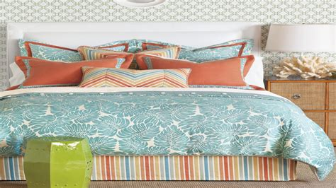 tropical duvet covers turquoise  coral bedding coral
