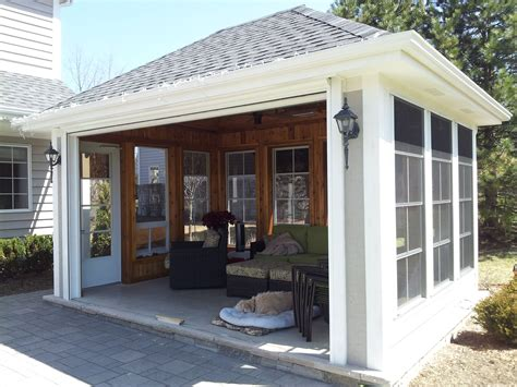 Three Season Room by Stand Alone Screen Porch 3 Seasons Room W Remote Roll Up