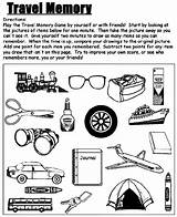 Memory Travel Coloring Pages Trip Road Crayola Activity Activities Visual Printable Games Trips Printables Adults Field Kid Theme Match Therapy sketch template