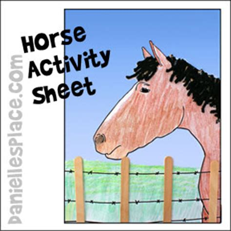 and crafts and activities for 263 | HorserActivitySheetPic4in