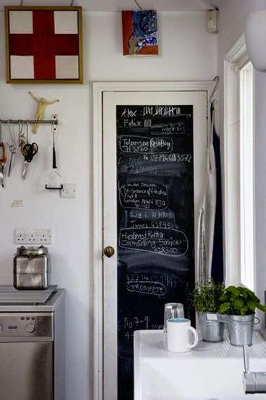 peinture porte de cuisine peinture à tableau noir sur porte de cuisine