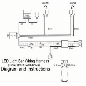 Red Led Light Bar Laser Rocker On  Off Switch  U0026 Relay Fuse