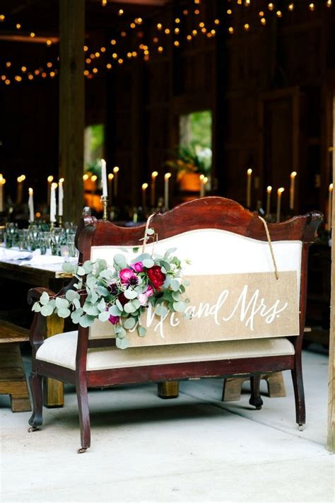 rustic country wedding head sweetheart table ideas