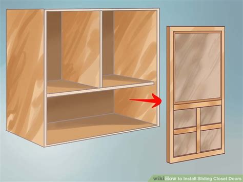 How To Fix Closet Sliding Door by How To Install Sliding Closet Doors 11 Steps With Pictures