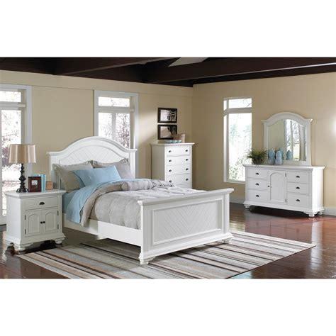 Elements International Brook White Panel Bedroom Set