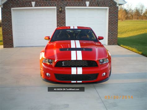 mustang shelby gt  performance package red
