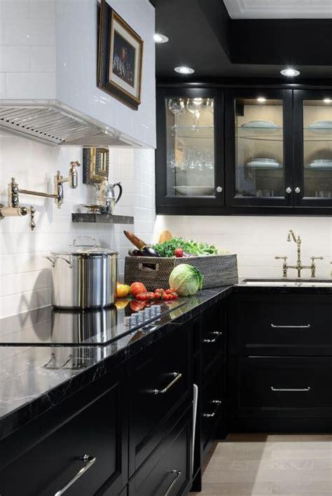 sophisticated black kitchen cabinets kitchen designs