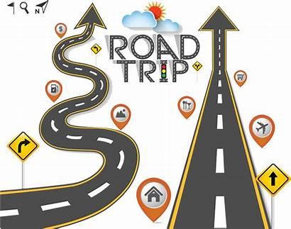 Road Trip Travel Clipart Clip Transparent Cartoon