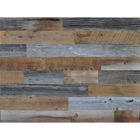 Reclaimed Wood Brown and Gray 38 in Thick x 35 in W x