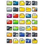 Xp Sleek Folders Icon Icons Pack Engine