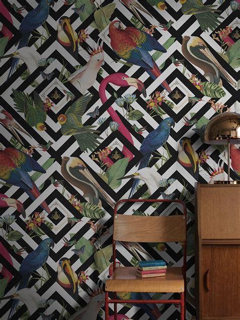 geometric aviary wallpaper unique wall murals divine