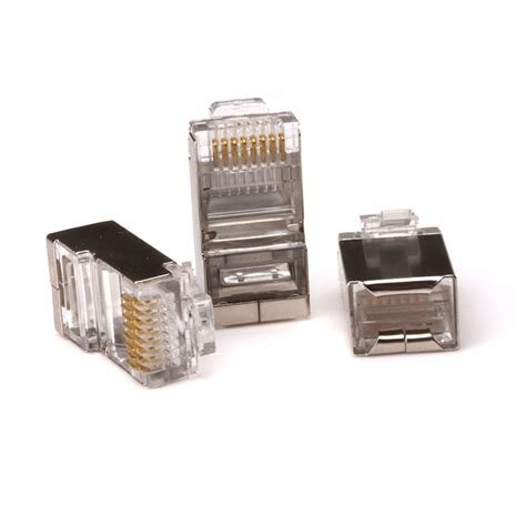 Pcs Lot Silver Tone Shielded Network Cable
