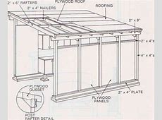 Shed Roof Garage Plans Building Flat Pitch Building
