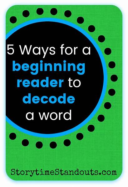 Decode Beginning Word Readers Ways Words Read
