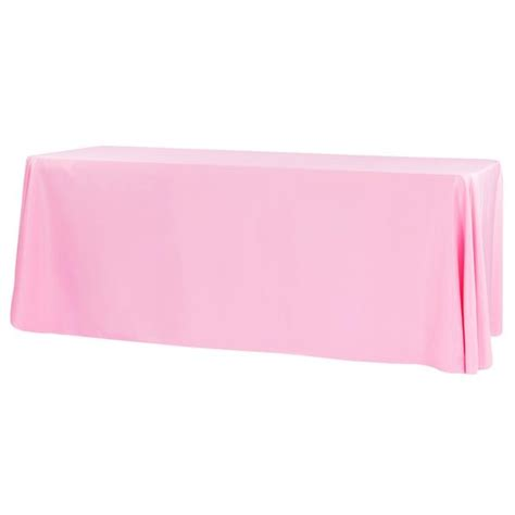 "Economy Polyester Tablecloth 90""x156"" Rectangular Pink"