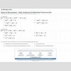 Polynomial Worksheets Homeschooldressagecom