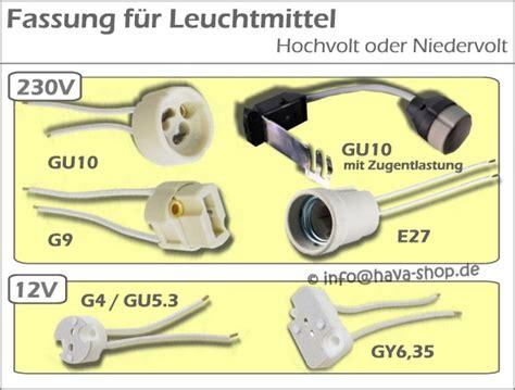 Fassungen Für Glühbirnen by Gu10 Fassung Halterung Sockel Gu5 3 G4 Gy6 35 E27 Halogen