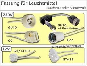 Fassung Gu5 3 : gu10 fassung halterung sockel gu5 3 g4 gy6 35 e27 halogen 230v 12v zugentlastung ebay ~ Watch28wear.com Haus und Dekorationen