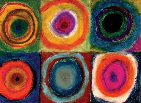 Circles in oil pastel