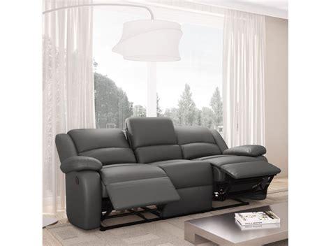 canape detente canape cuir 3 places relax maison design modanes com