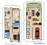 Plano de casa dos pisos y tres dormitorios Planos de