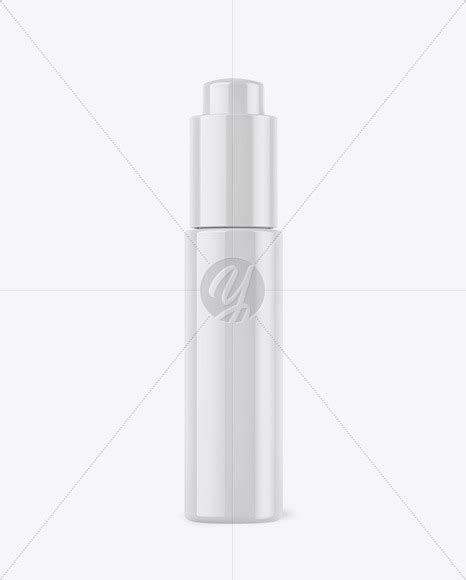 Free for personal and commercial use zip file includes: Glossy Dropper Bottle Mockup in Bottle Mockups on Yellow ...