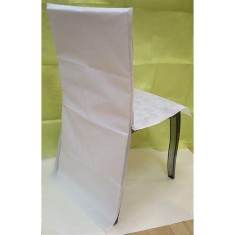 dessus de chaise pas cher housse de chaise papier pas cher
