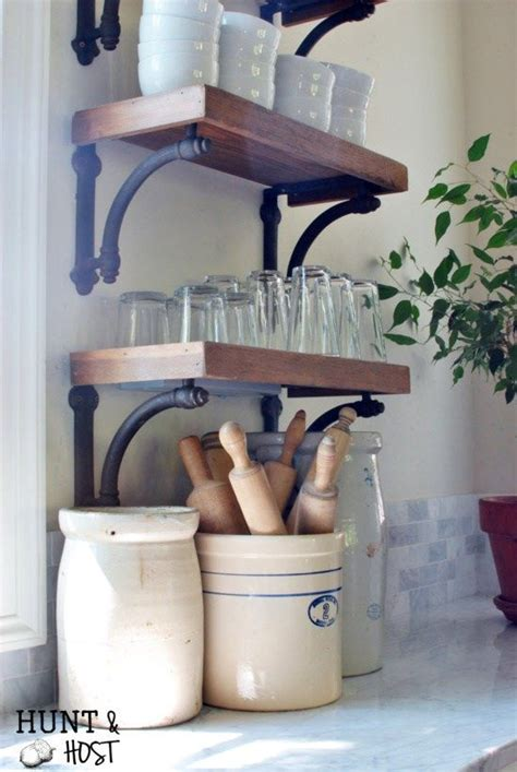 country style kitchen shelves country home tour open shelving country 6221