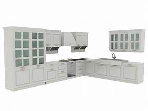 european kitchen cabinets 3d model 3dsmax files free With kitchen furniture 3d model free download