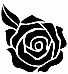 rose silhouette on Pinterest | Silhouette, Black Roses and ...