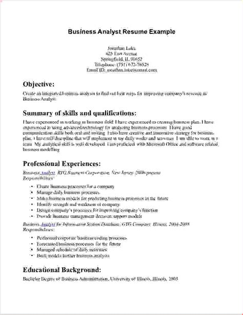 Resume Script For Business Administration by 8 Business Administration Resumereport Template Document Report Template