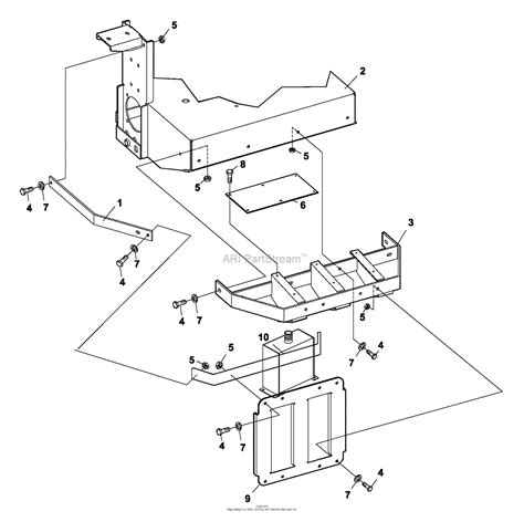 bunton bobcat ryan  zt  hp kaw  side discharge parts diagram  bumper