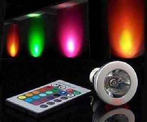 Color-Changing LED Light Bulb with Remote | DudeIWantThat.com