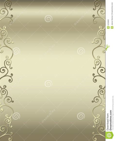 elegant swirl design border stock  image