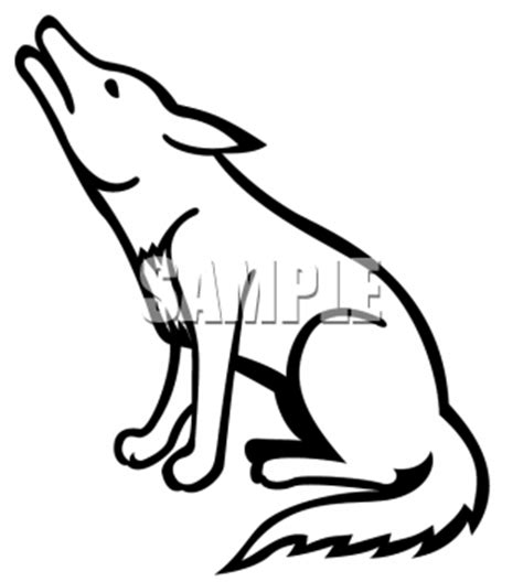 coyote clip art black  white clipart panda