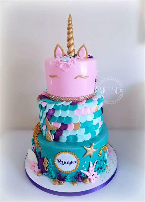 unicorn mermaid cake  birthday cake mermaid birthday