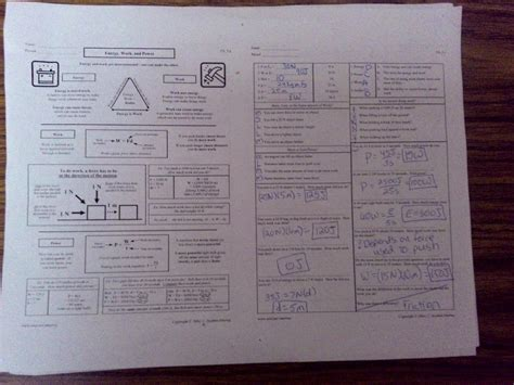 picture phy power energy worksheets and key