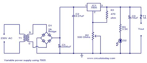 Variable Power Supply Using Electronic Circuits