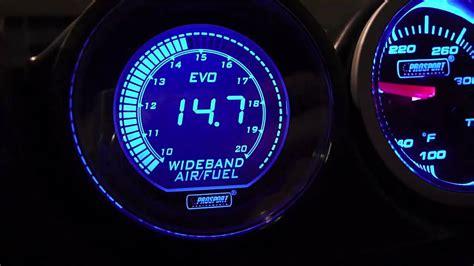 Prosport Evo Wideband Air Fuel Meter Gauge Mach