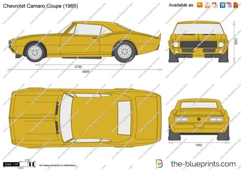 The Blueprints Vector Drawing Chevrolet Camaro Coupe