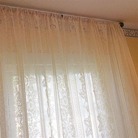 ivory lace vintage window curtains lace curtains panels