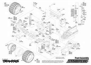 Exploded View  Traxxas Stampede 1 10 Tq Rtr