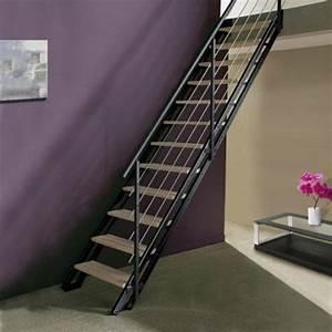 escalier gain place petit espace accueil design et mobilier With escalier exterieur metallique leroy merlin 15 mur en gabion