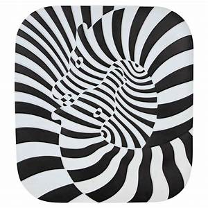 Zebra Porcelain Wall Sculpture By Victor Vasarely For