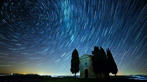 Timelapse Moving Star Trails Night Sky The Milky