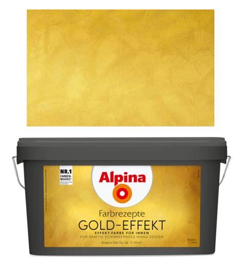 Schöner Wohnen Farbe Gold by Alpina Wandfarbe Gold Effekt 4 1 L Samtig Schimmernd