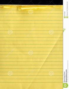 A Yellow Note Pad Stock Photo Image Of Horizontal Color