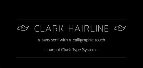 clark hairline typeface on typography served