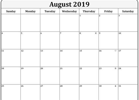moon phases calendar  august   gambar