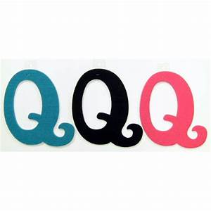 felties script letter with adhesive q pink black blue set With pink adhesive letters
